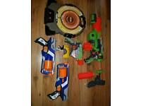 Range of Nerf guns and Target