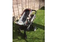 icandy pushchair — peach blossom twin/double travel system - EXCELLENT CONDITION