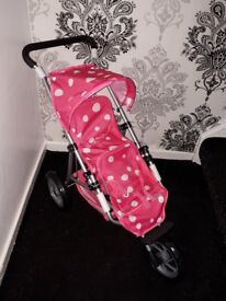 Toy twin mamas and papas bugy pink