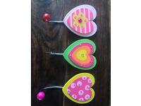 Children's coat hooks - 2 sets for sale