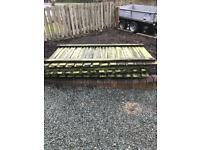 Free old fencing 6'x4' panels x 30 + posts