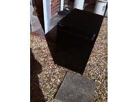 Black Bisley 2 Drawer filing cabinet with hree keys.