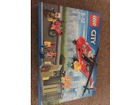 Lego 60108 boxed and brand new fire and rescue helicopter and bike