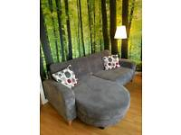 DFS 4 seater formal back lounger in Charcoal