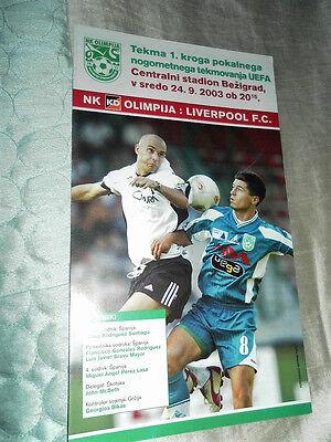 2003 UEFA CUP NK OLIMPIJA V LIVERPOOL