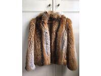 Topshop Faux Fur Jacket Size 8