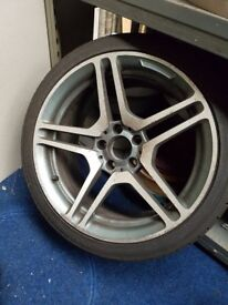 """Mercedes 18"""" 5 stud alloys and tyres"""