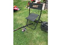 Fishing rod and chair with bag