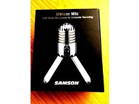 """Meteor Mic"" USB Studio Microphone for computer recording"