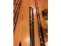 Fishing rods and tackle