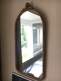 Small gilded mirror