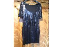 FWM Designer Sequin Dropped Waistdress