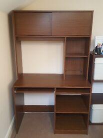 Desk with storage good condition