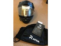 Motorcycle Helmet HJC RPHA ST with embedded sun glasses - Size M 58cm - Mint condition