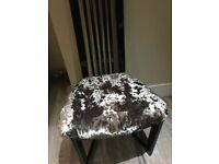 4 Dining chairs heavy silver crushed velvet black high gloss newly refurbished