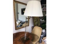 """Table lamp by Eichholtz """"Beaufort"""" in brass with a swing arm"""