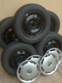 """15"""" 6J Wheels and Tyres for Octavia, Laon, Audi A3, Golf etc."""