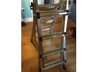Telescopic aluminium step ladder £40