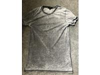 River island grey burnout tshirt xxs