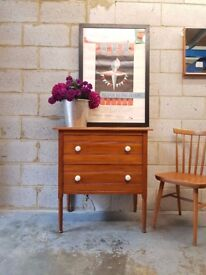 Vintage 1920's Satinwood Chest of Drawers