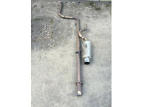 honda civic ek4 vti full stainless steel exhaust system de cat cobra sport