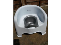 Baby Weavers potty chair with removable insert, white, gender-neutral, excellent used condition