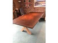 Rusty table top replacement dining kitchen. Revamp ur old top with a rusty metal version
