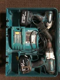 Makita driver and impact with 2 batteries and charger