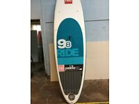 2015 RED Ride 9'8 stand up paddle board with paddle and lease SUP