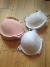 3 x padded bras size 38c