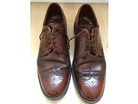 Barkers Mens Classic Brogue - Chestnut brown size 9.5 F