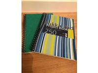 2 brand new A4 spiral bound note pads.