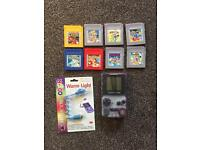 Nintendo gameboy colour 8 games Pokemon mega man mario etc