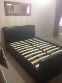 Double bed frame with storage (excellent condition)