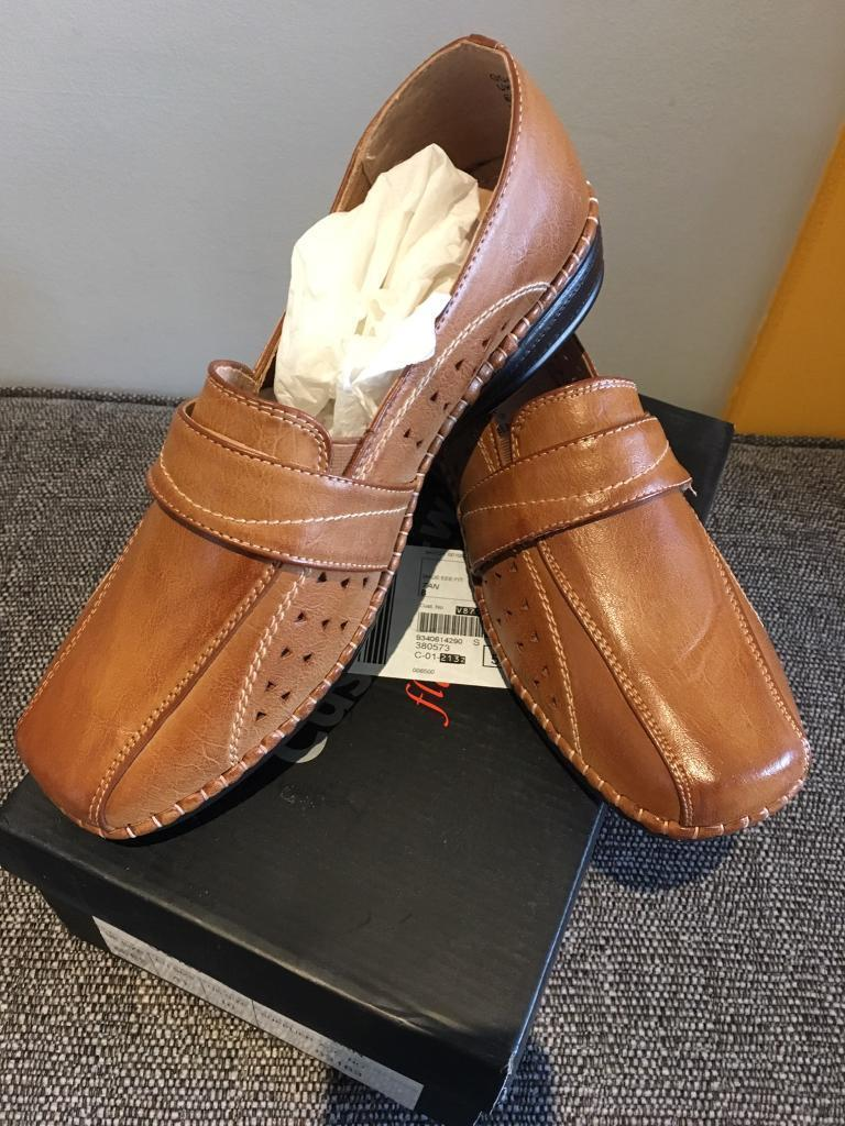 00241af266f Ladies tan shoes size 8EEE wide fitting Cushion-Walk NEW