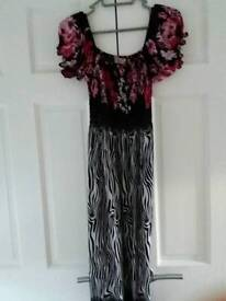 Floral and zebra printed maxi dress size 14 RRP £20