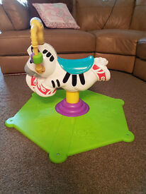 Fisher Price Bounce 'n' Spin Zebra Ride On