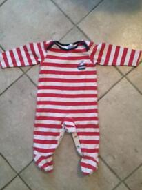 Boys sleepsuit 6-9m