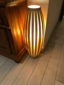 Bamboo lamps x 2