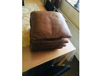 4 DFS REAL LEATHER hardly used cusions