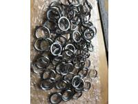 Over 80+ curtain rings!
