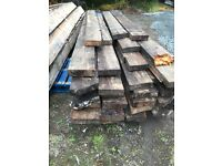 Reclaimed pitch pine timbers