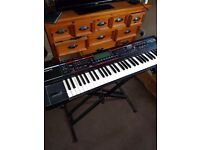 Roland Juno-G Synth w/ Stand and Flight Case