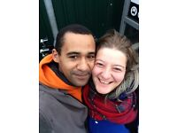 FRIENDLY WORKING COUPLE LOOKING FOR FLAT OR DOUBLE ROOM TO RENT