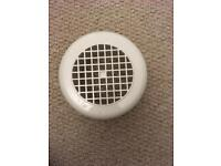 Bathroom extractor fan cover vent