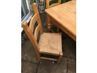 Solid pine table and 4 chairs - great price!