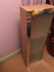 Bathroom Cabinet (Wood / Glass)