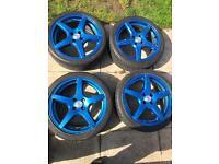 Dezent 5 spoke alloy wheels Vauxhall fit