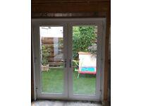 Upvc white double glazed Patio Doors