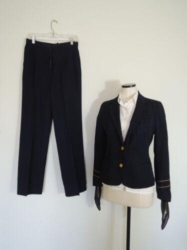 Vintage PAN AM Stewardess Flight Attendant Uniform Pants Blazer Blouse Size 12